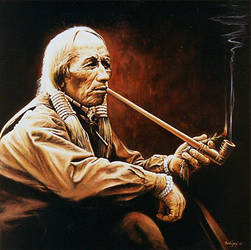 Indian with the Pipe