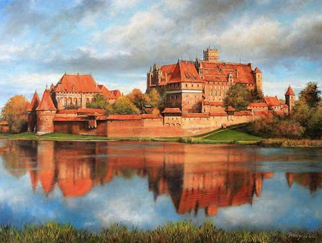Panorama of Malbork Castle (Marienburg)
