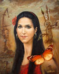 Portrait of the Young Woman by joseph-art