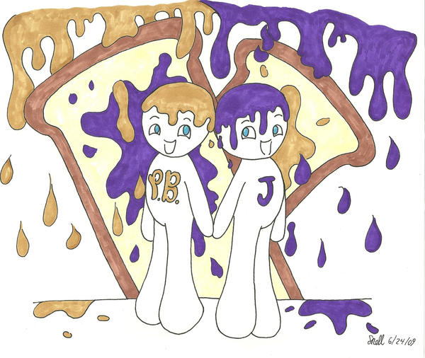 Peanut Butter and Jelly by Froggy-Spaztastic