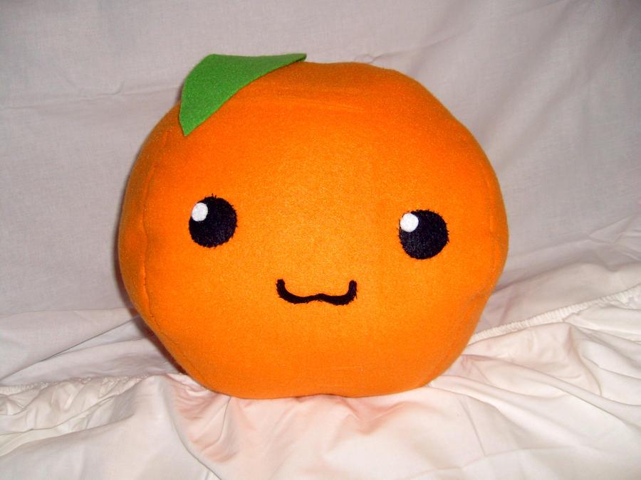 Orange Fruit Plushie by Froggy-Spaztastic