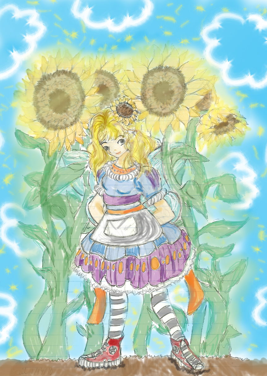 Sunflower Fairy by Froggy-Spaztastic