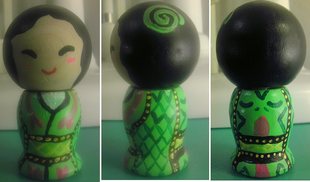 Japanese Kokeshi Snake Doll by Froggy-Spaztastic