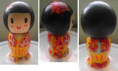 Autumn Kokeshi Doll