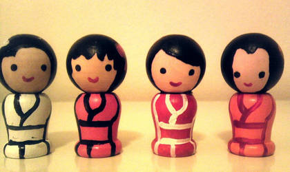 Japanese Kokeshi Mini Magnet Dolls