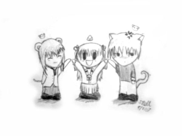 Furuba Trio by Froggy-Spaztastic