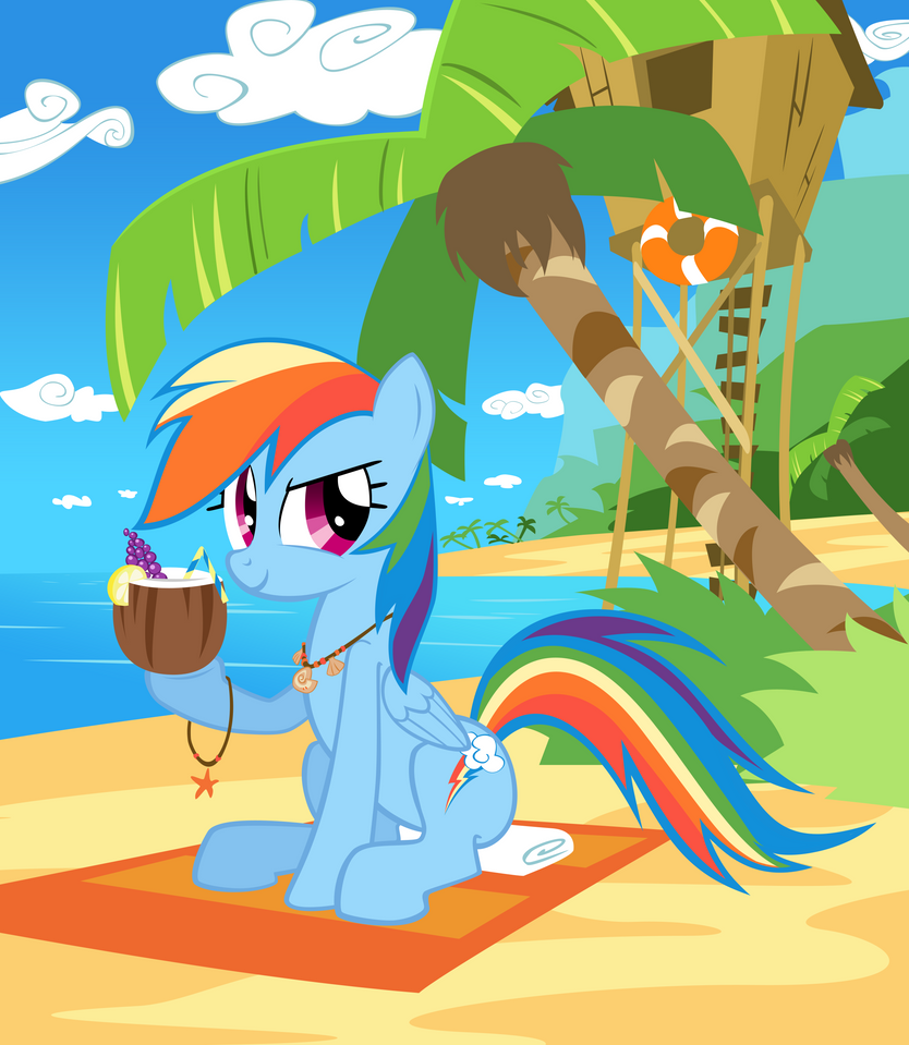 Dashie at the beach by Mick-o-Maikeru