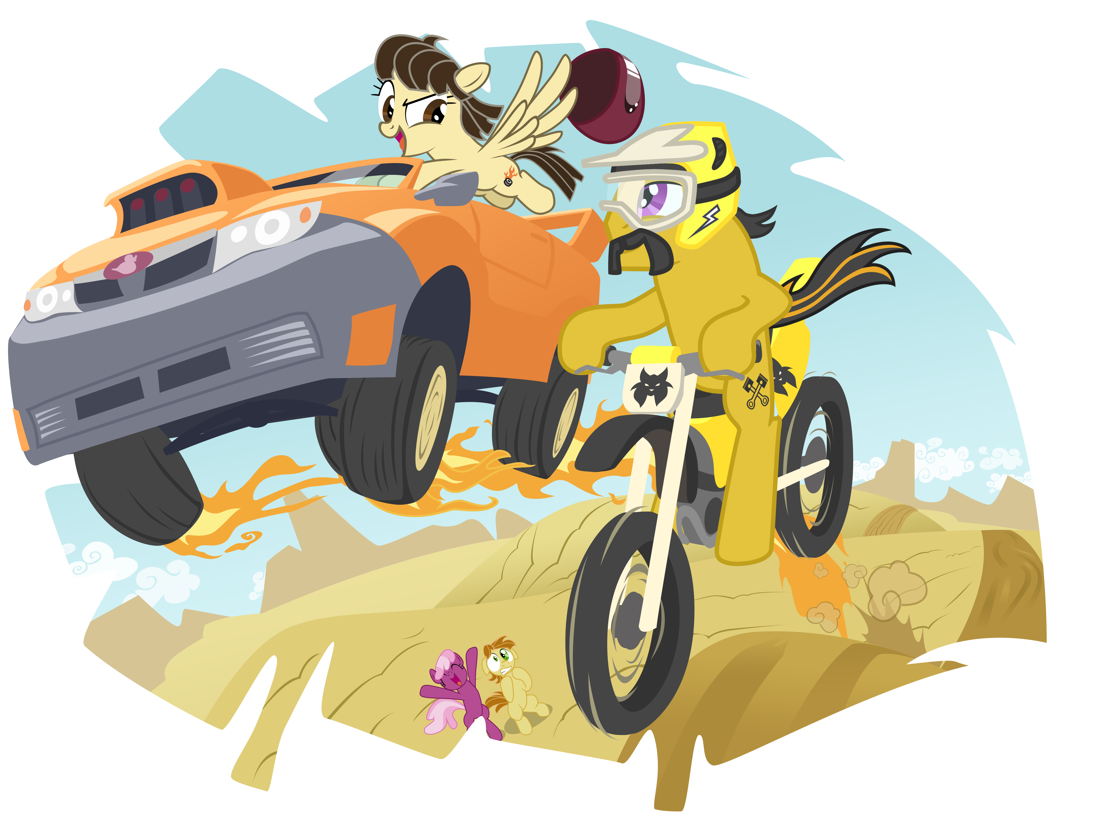 The Epic Race by Mick-o-Maikeru