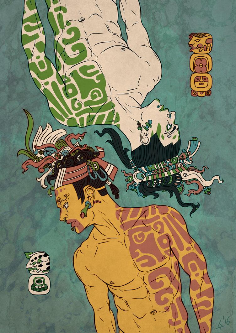 Hun-Ahpu and Xbalanque by Sudjino