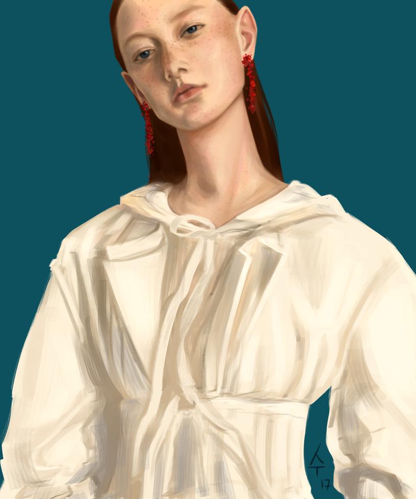 Girl sketch by Sudjino