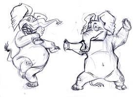 Kung fu elephant by nerresta