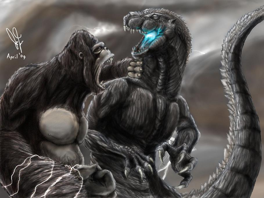 Acabou, é o fim do MITO ! - Página 8 King_Kong_vs__Godzilla_by_Tankor89