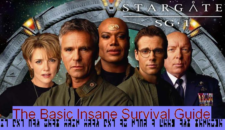 SG-1, Hammond, and Stargate starry background