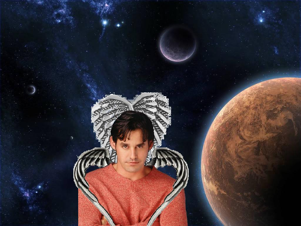 Xander double winged in space