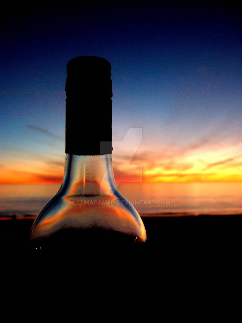 Henley Wine Bottle Sunset