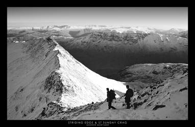Striding Edge and St Sunday by mortimea