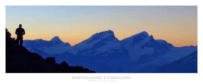 Rimpfischhorn and Strahlhorn
