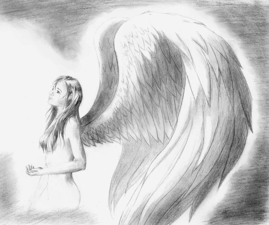 depressed angel drawings - photo #21