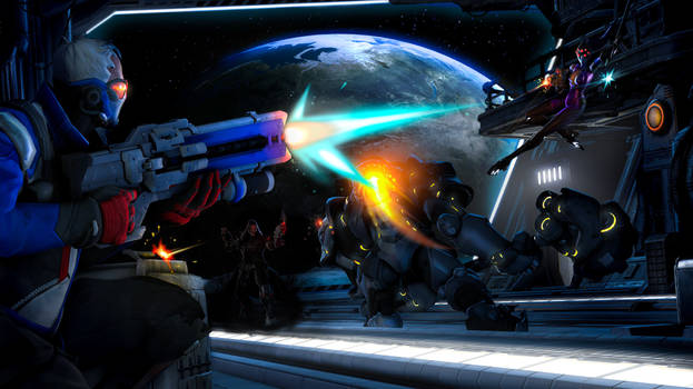 Skirmish on a space ship