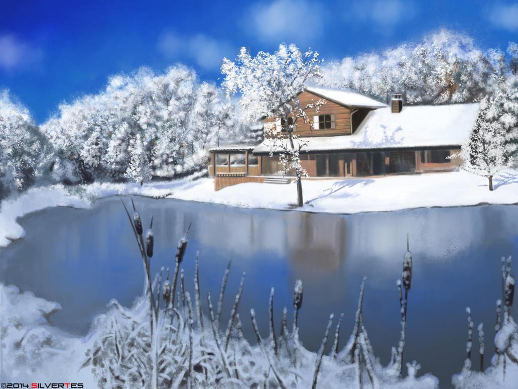 --- SilverTES Gallery --- Snow_bg_by_silvertes-d7exm2r