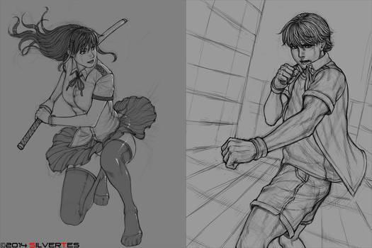 Mugen x Lady Fight Pose