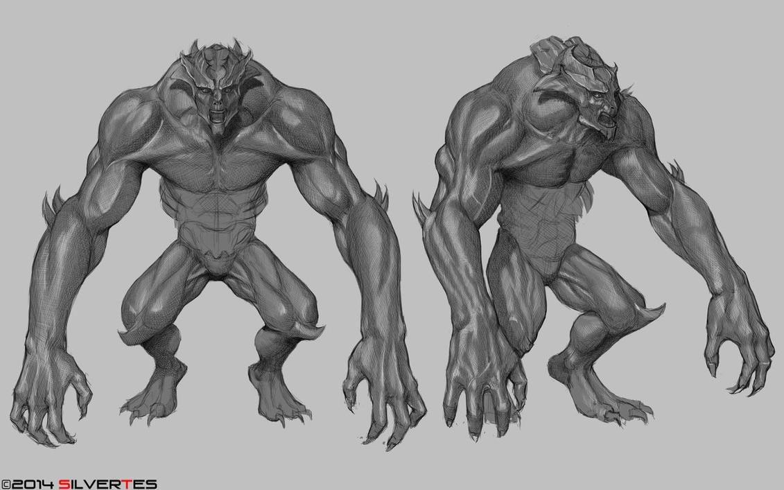 --- SilverTES Artworks --- Monster_design_by_silvertes-d7hkiju