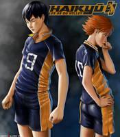 Haikyuu Kageyama and Hinata by SilverTES