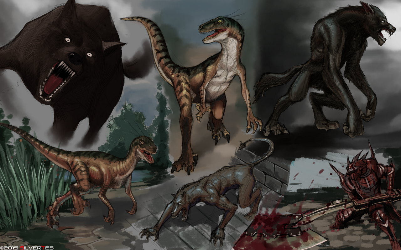 --- SilverTES Artworks --- Concept_art_study_beast_by_silvertes-d8cpwfh