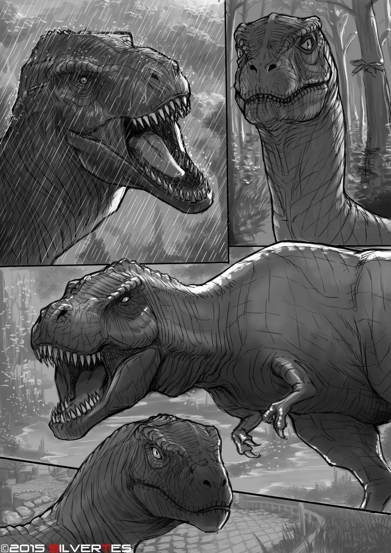 --- SilverTES Artworks --- Carnivorous_dinosaur_by_silvertes-d90gokv