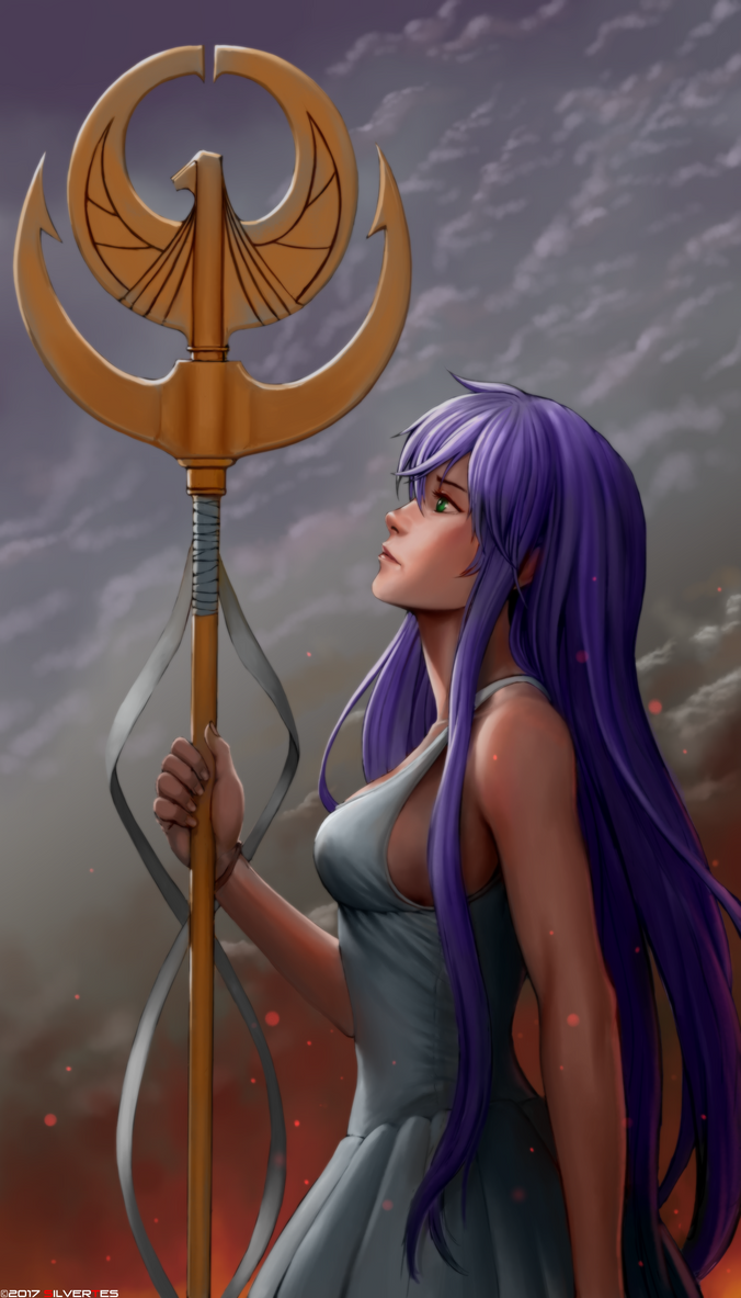 --- SilverTES Gallery --- Goddess_of_war_by_silvertes-dbimh4g