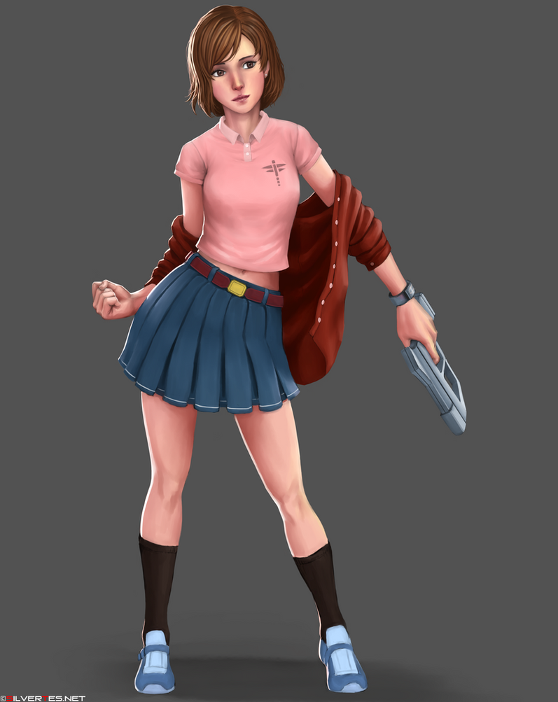 CharaDesign Girl01 by SilverTES