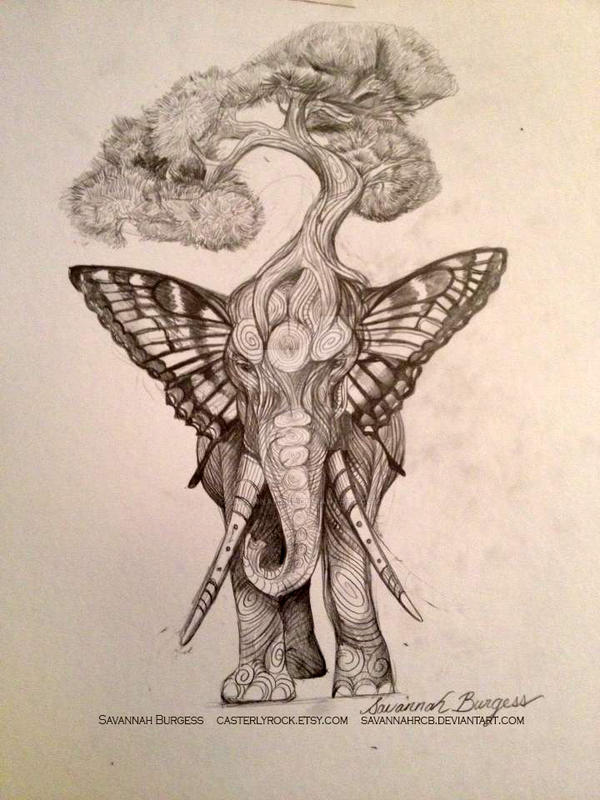 Elephant Tattoo Design By Savannahrcb On Deviantart