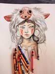 Mononoke in Crayon