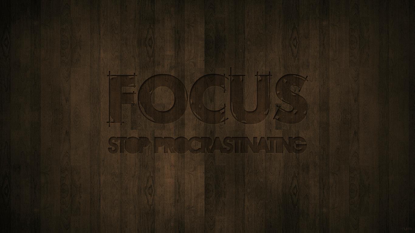 Focus Stop Procrastinating By Mykefx On Deviantart