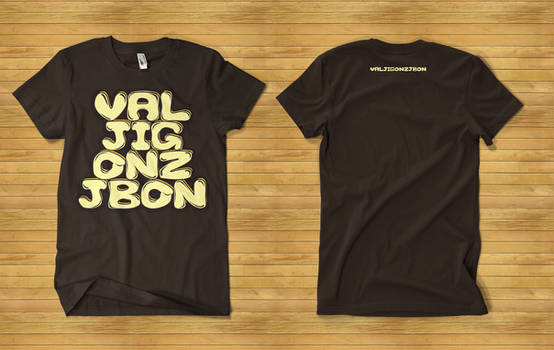 VALJIGONZJBON T-shirt Mockup
