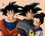 Black vs Goku by kaxrei