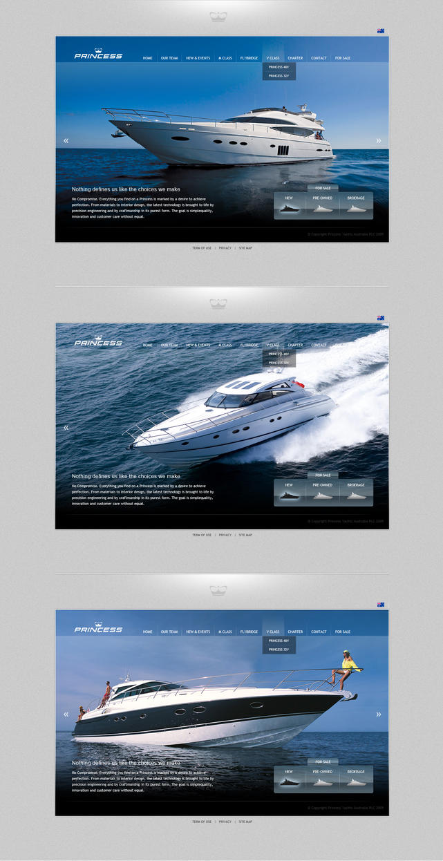 princess yachts by beneffin