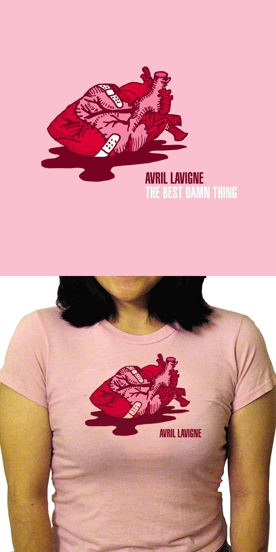 Avril Lavigne Tshirt- design3 by shampooswan