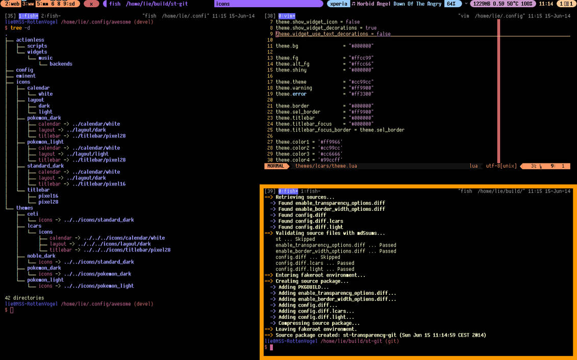 trying to mimic LCARS interface with Awesome WM by