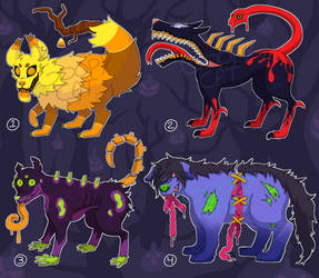 Halloween Adopts: Spooky Doggos (2/4 open) by GoopyCat