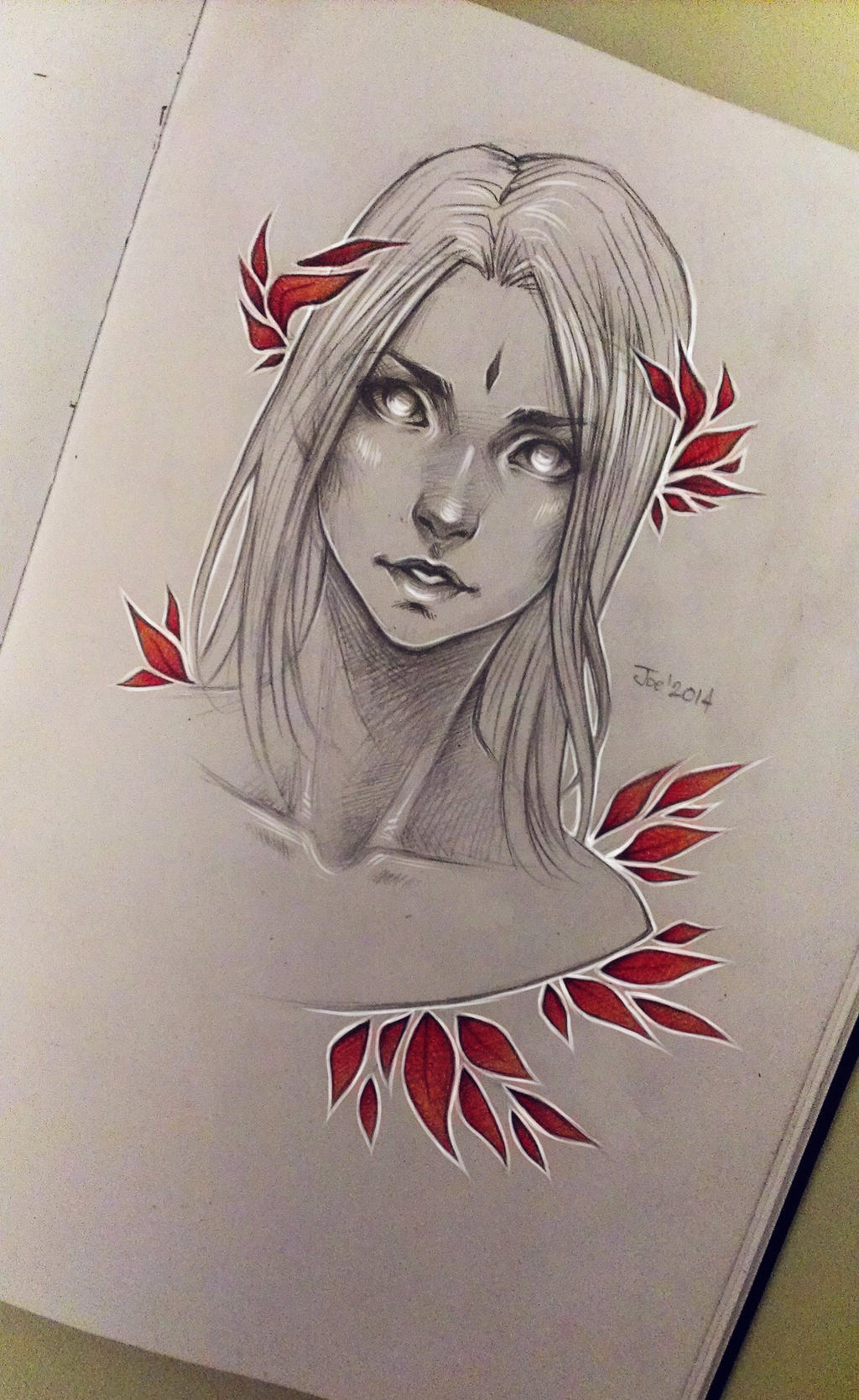 Scribble Drawing Meaning : Red leaves by sashajoe on deviantart
