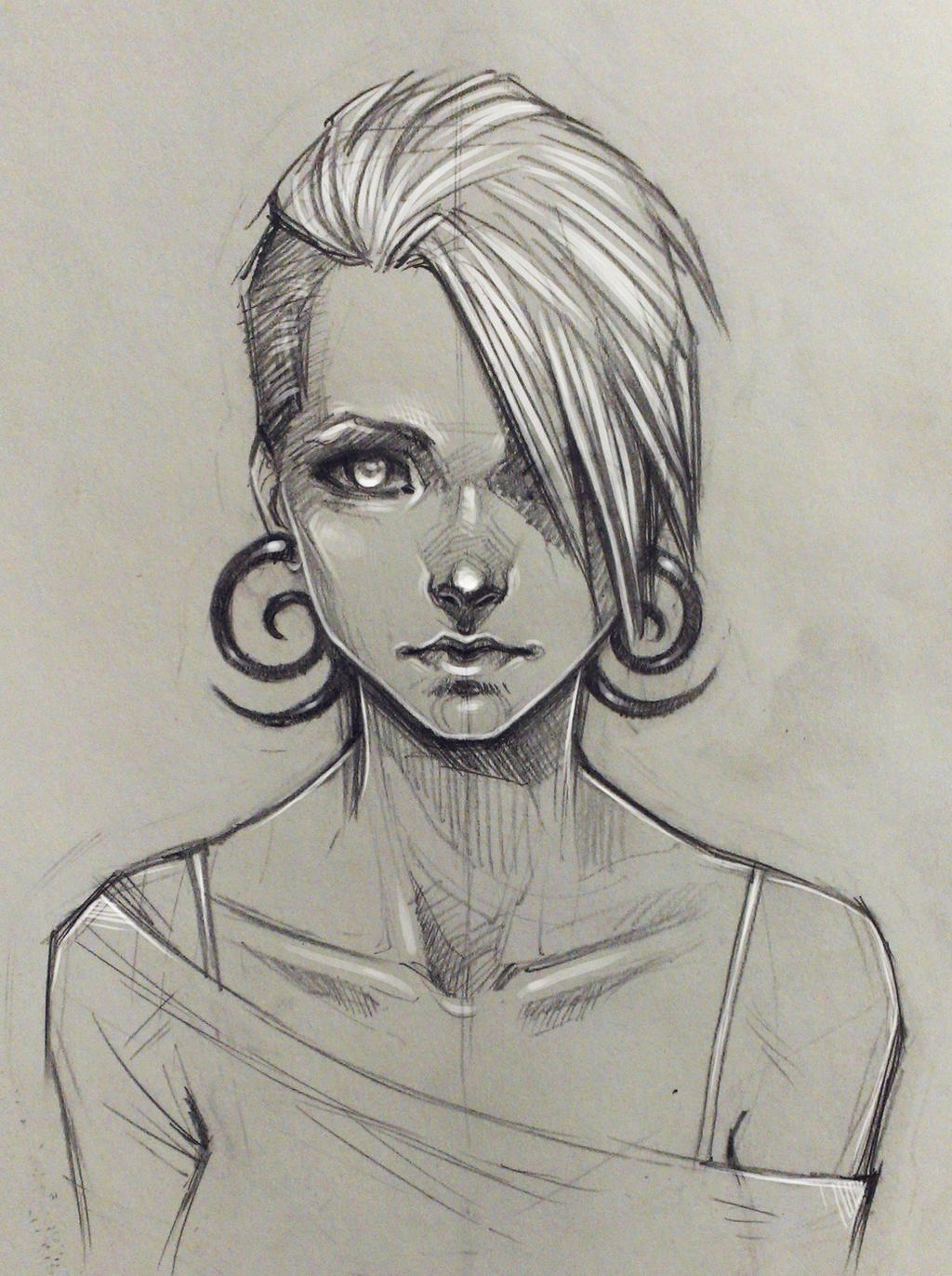 Random girl by sashajoe