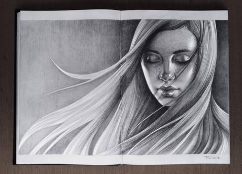 Girl. Sketchbook