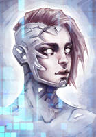 Sci-Fi Girl. Sketch by sashajoe
