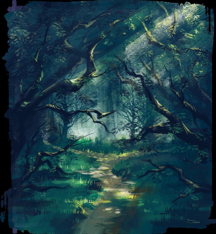 Mysterious forest by sashajoe