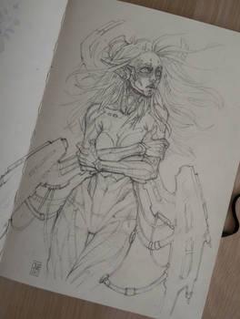 Cyber angel sketch