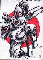Widowmaker sketch by sashajoe