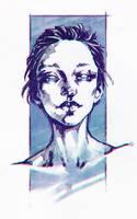 Blue sketch by sashajoe