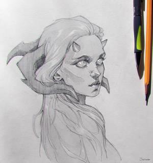 Sketch | Horned girl ver.2