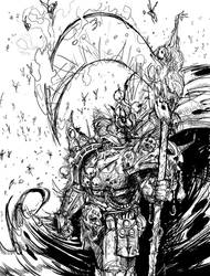 Mortarion sketch by saint-max